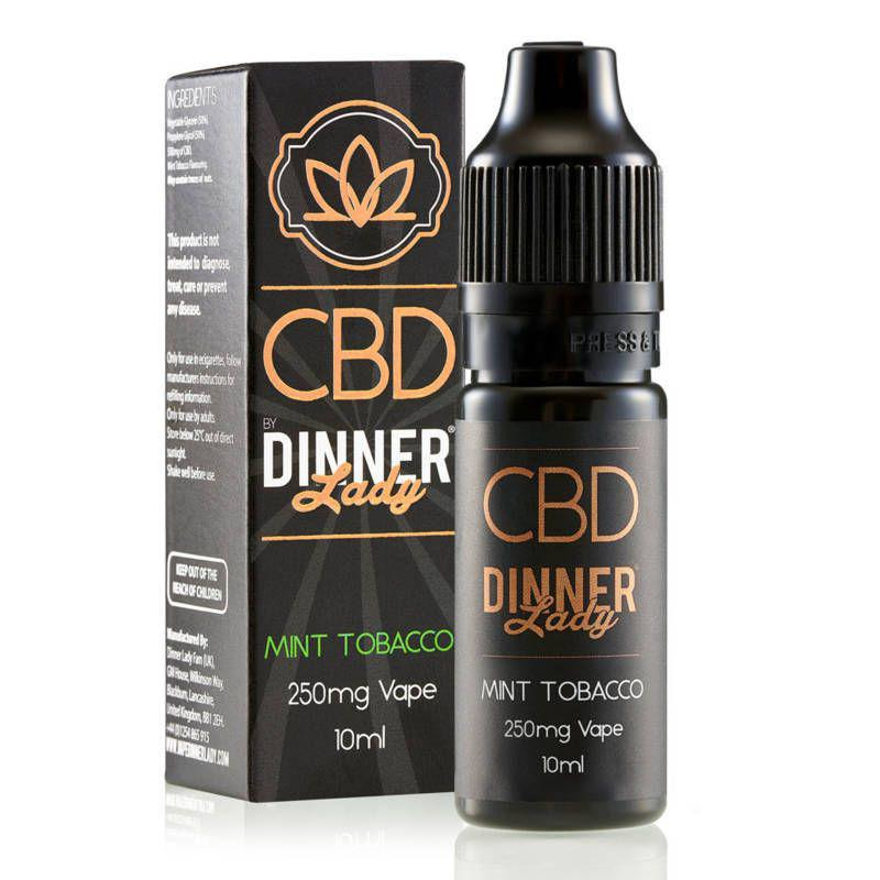 Mint Tobacco CBD E-Liquid by Dinner Lady 10ml 250mg