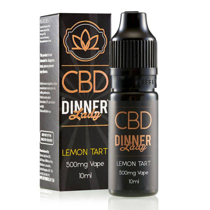 Dinner Lady Lemon Tart CBD E Liquid 10ml 500mg