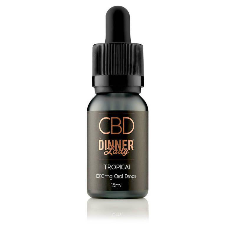 Tropical CBD Oral Drops by Dinner Lady 15ml - Click Image to Close