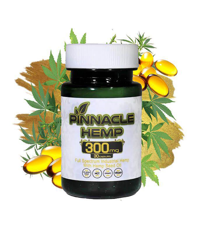 CBD Capsules 30ct – 300MG By Pinnacle